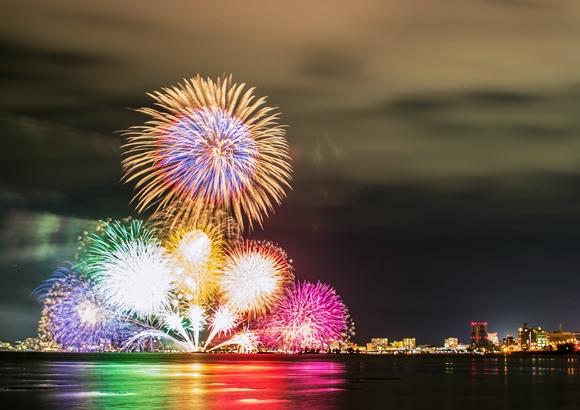 松江水郷祭花火
