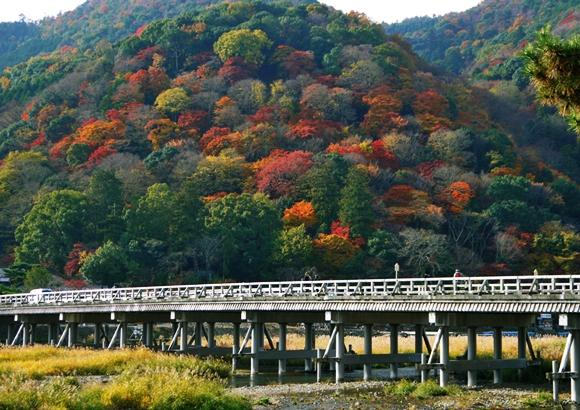 京都 嵐山 もみじ祭り