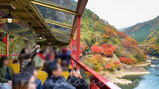 京都嵐山トロッコ列車の予約と当日券の販売時間