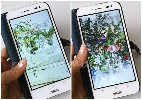 篠崎恵美さんのカラフルなお花をスマホの壁紙にしてみた