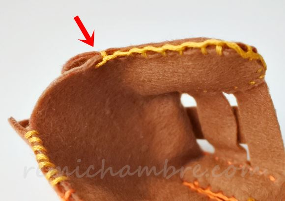 フェルトの野球グローブの作り方