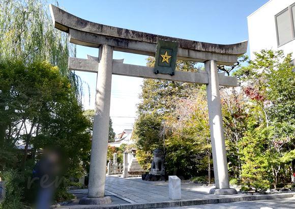 清明神社の一の鳥居